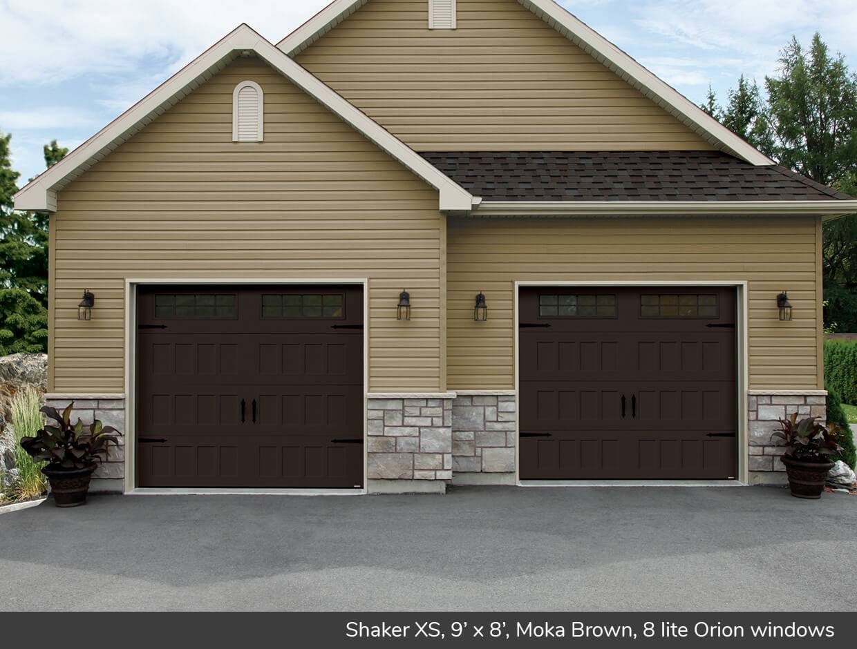 Shaker XS, 9' x 8', Moka Brown, Orion 8 lite windows